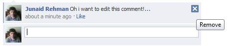 Edit comment in facebook 1