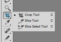 Crop tool and slice tool