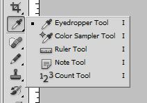 Eye dropper tool and color sampler tool