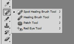 healing brush tool and red eye tool