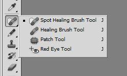 healing brush tool and red eye tool