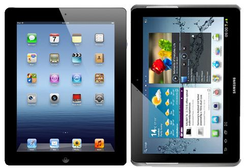 Samsung Galaxy Tab 10.1 2 vs iPad 3