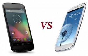Nexus 4 vs Samsung Galaxy S3
