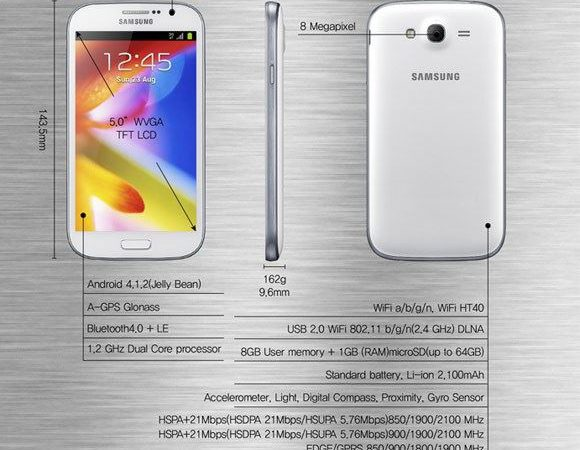 Samsung galaxy grand specification and important features