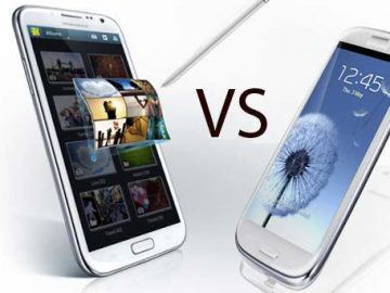 Samsung galaxy s3 vs Note 2
