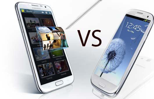 Samsung galaxy s3 vs Note 2