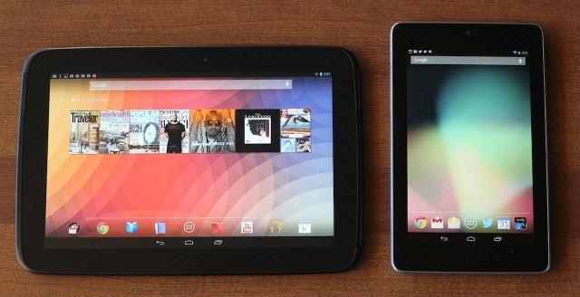 Difference between Google Nexus 7 and Nexus 10