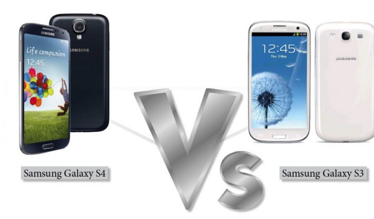 Comparison between samsung galaxy s3 and s4