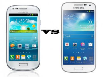 Comparison between s3 mini and s4 mini