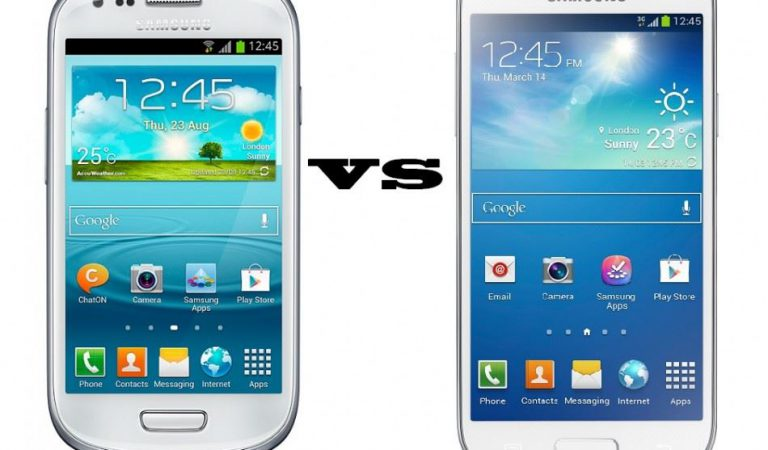 Difference between samsung galaxy s3 mini and samsung galaxy s4 mini