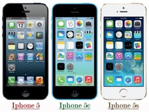 Difference between IPhone 5, 5c and 5s