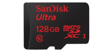 Micro SD card of 128 GB memory