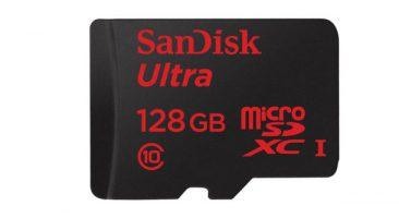 Micro SD card of 128 GB memory