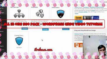 Wordpress urdu tutorial video of all in one seo pack