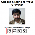 Choose rating of avatar