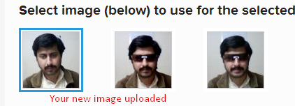 New image uploaded successfully