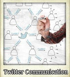 Communication types used on twitter