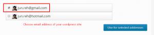 Choose email address