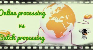 Online processing system vs batch processing system