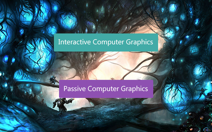 Interactive computer graphics vs passive computer graphics