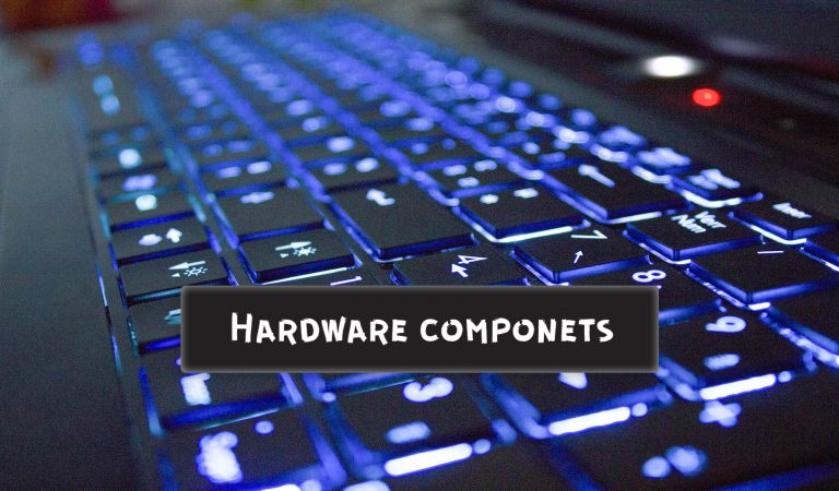 What are components of computer hardware