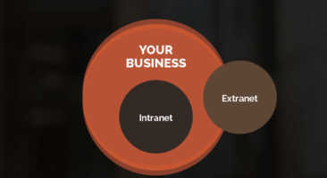 Diagram of intranet and extranet