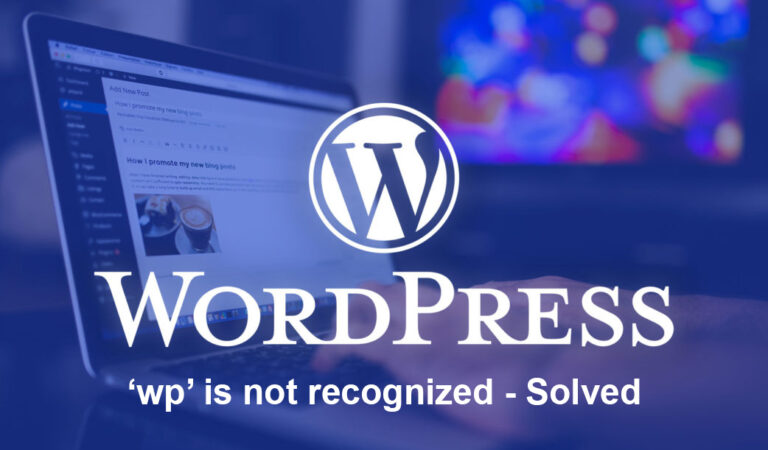 'wp' is not recognized – Solved