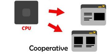 Cooperative vs preemptive multitasking